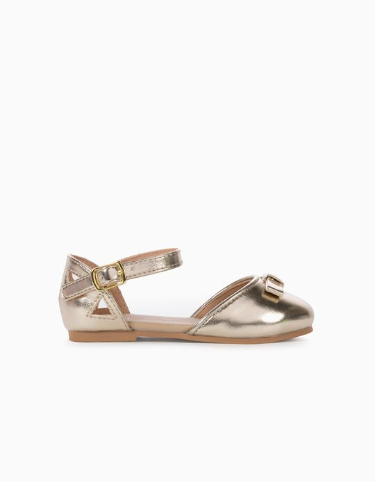Ballet Pumps for Baby Girls, Gold
