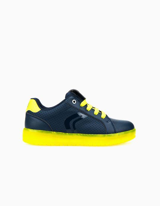 Zapatillas Geox Azules y Amarillas con Luces LED