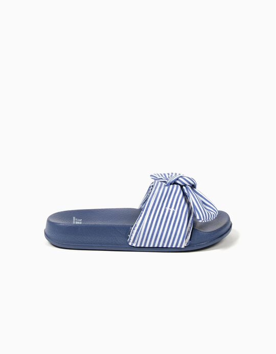 Sandálias Azuis Riscas