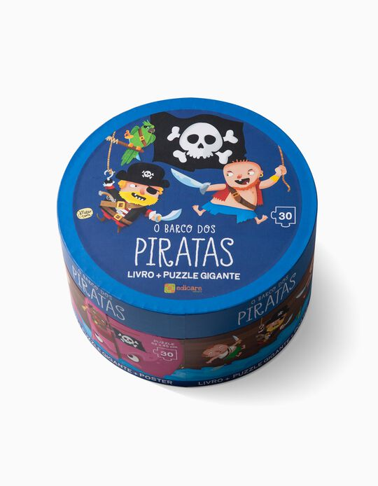 Puzzle Barco dos Piratas Edicare 30pcs