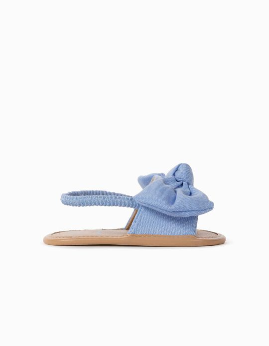 Sandals with Bow for Newborn Baby Girls, Blue