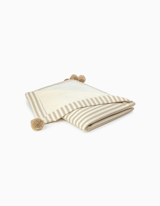 Throw, Julene Pielsa Baby Flat Ending Stripes Beige 70x90cm