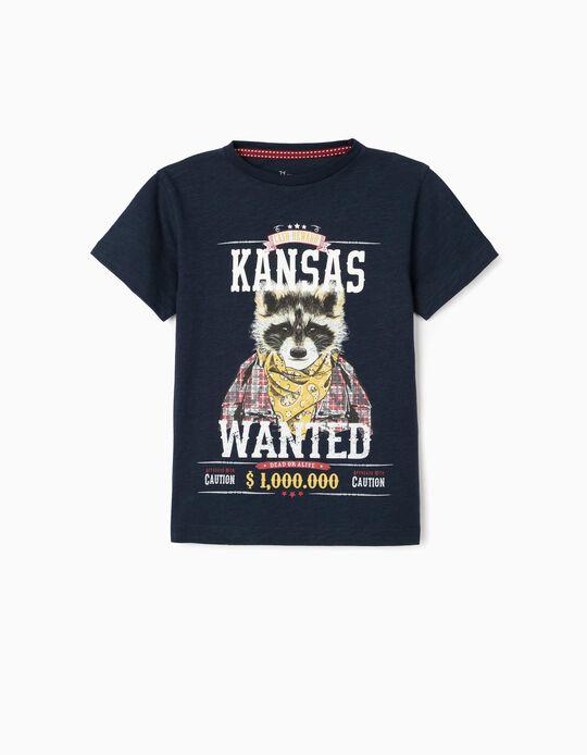 T-shirt for Boys, 'Kansas', Dark Blue