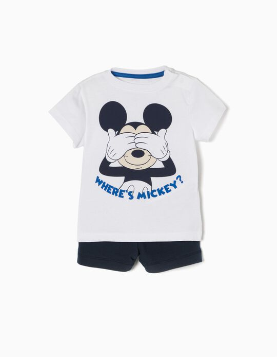 Conjunto de Camiseta y Short Mickey Mouse
