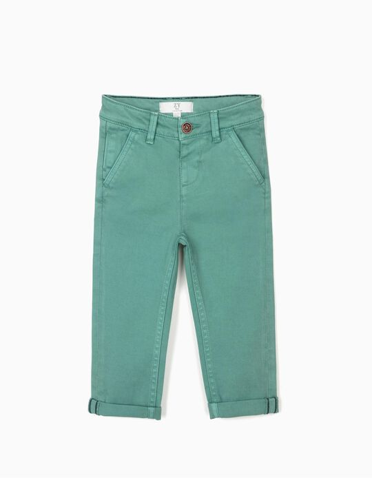 Pantalón Chino para Niño, Verde