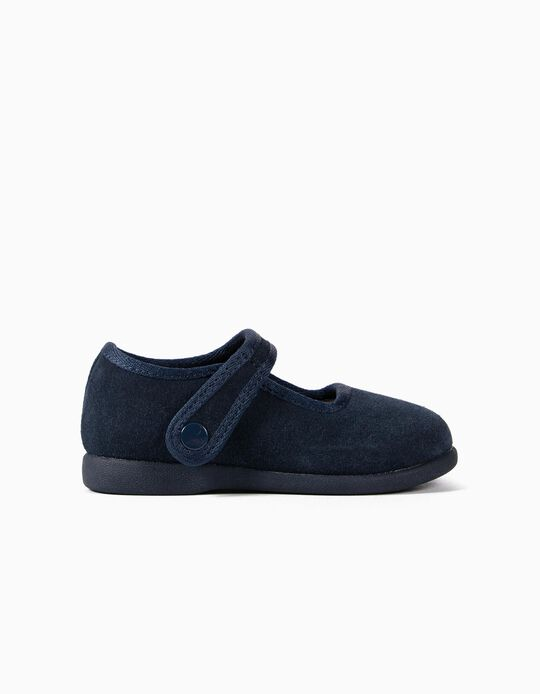 Suede Ballerinas for Baby Girls 'ZY Ballerina', Dark Blue