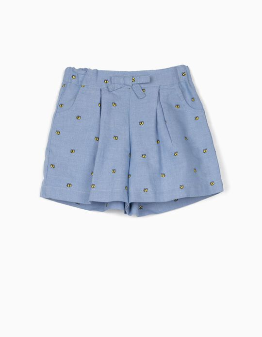 Shorts for Baby Girls 'Bees', Blue