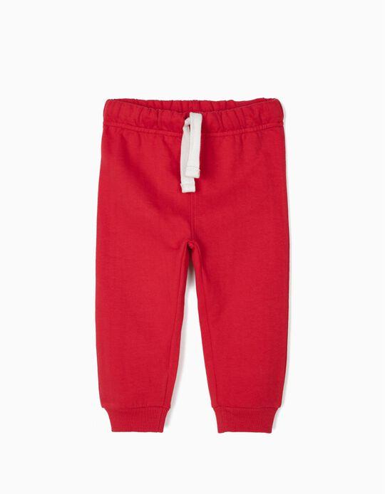 Calças de Treino para Bebé Menino, Vermelho