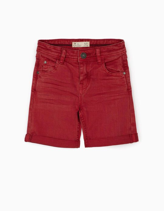 Twill Shorts for Boys, Red