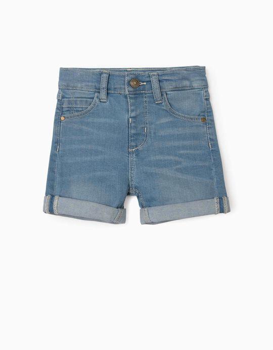Denim Shorts for Baby Boys, Light Blue