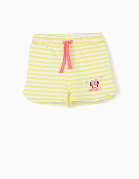 Shorts for Baby Girls, 'Minnie Mouse', Lime Yellow/White