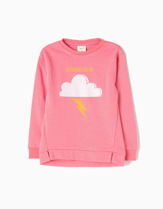 Sudadera Friendly Cloud Rosa