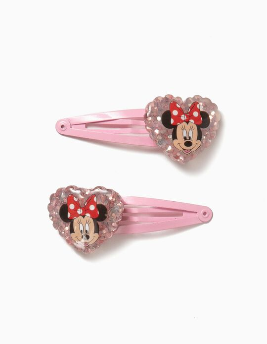 2 Horquillas del Pelo para Niña 'Minnie', Rosa