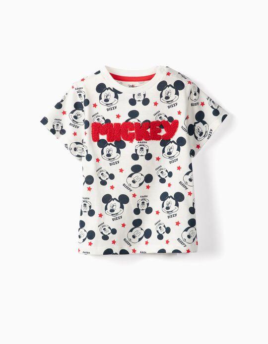 Camiseta para Bebé Niño 'Mickey', Blanca