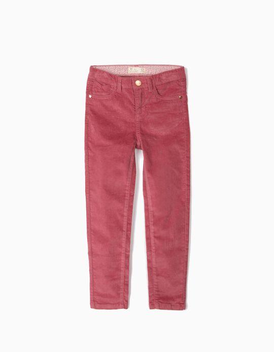 Pantalón de Pana para Niña, Rosa