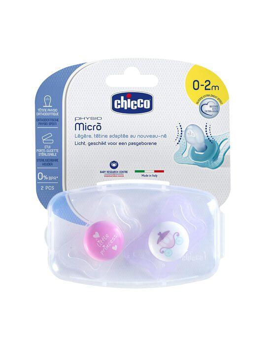 Chupete Physio Micró 0-2M+ Chicco 2Un.