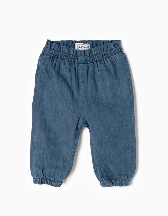 Denim Trousers for Newborn Girls 'My 1st Denim', Blue