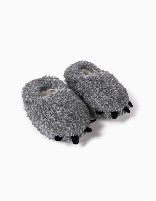 Zapatillas de Casa para Bebé Niño 'Paws', Gris