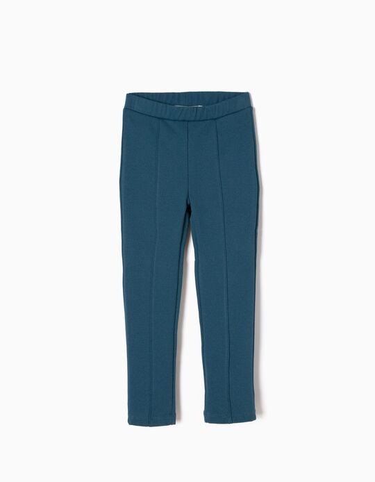 Leggings Jersey Azul Petróleo
