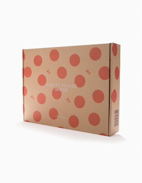 Grande boîte-cadeau 'ZY', beige
