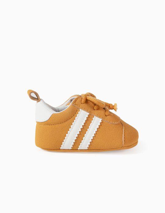 Zapatillas para Recién Nacido 'Rayas', Amarillo