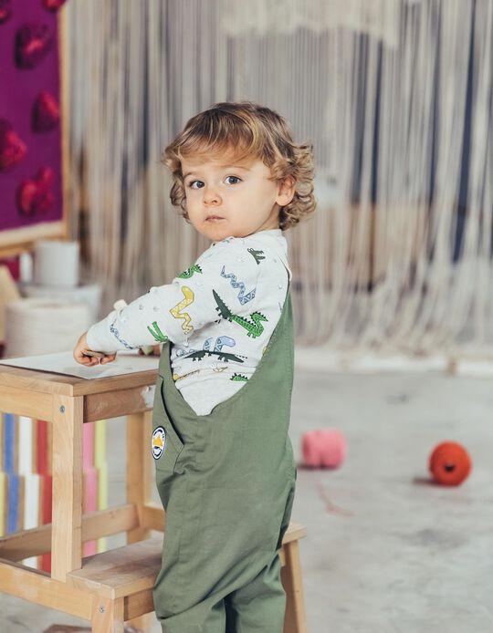 Sweatshirt para Bebé Menino 'Animals', Cinza Mesclado