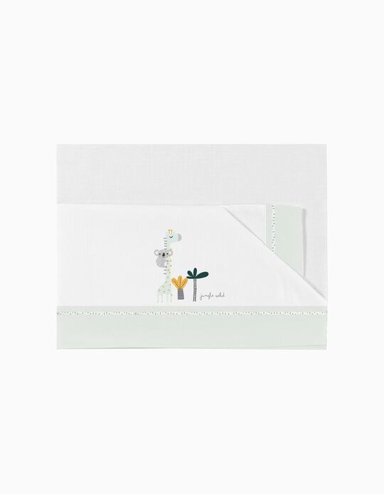 Conjunto de Lençóis para Berço 50X80 cm Koala Green 3 Pcs. Bimbichic