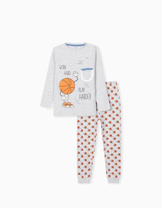 Pyjamas for Boys 'Play Harder ', Grey
