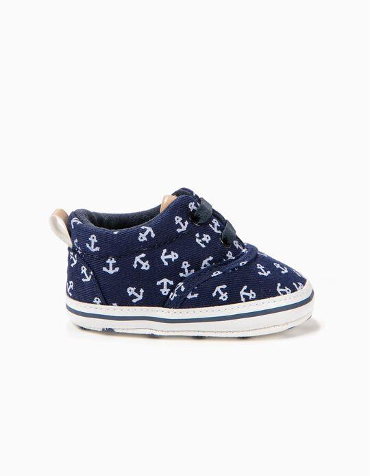Zapatos para Recién Nacido 'Anchors', Azul