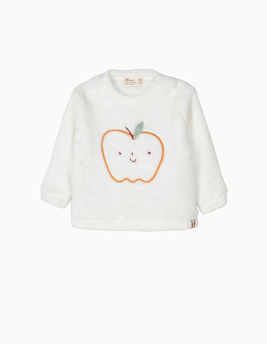 Sweatshirt Maçã Branca