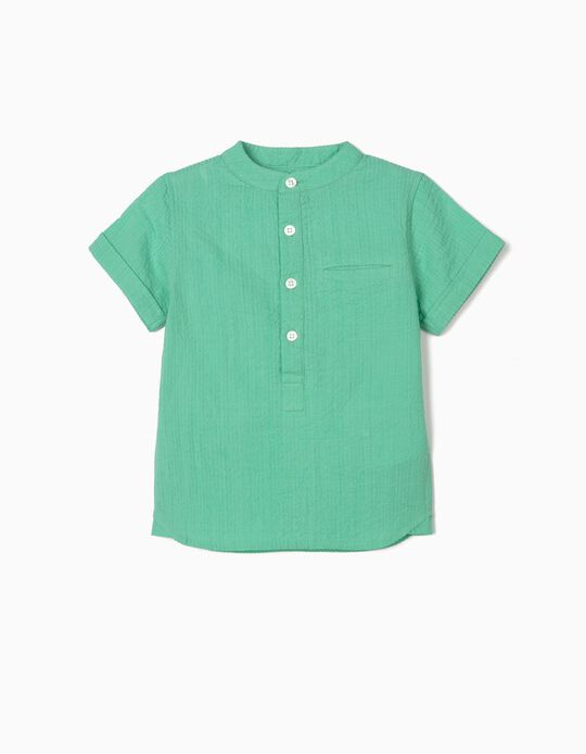 Textured Shirt for Baby Boys, Green
