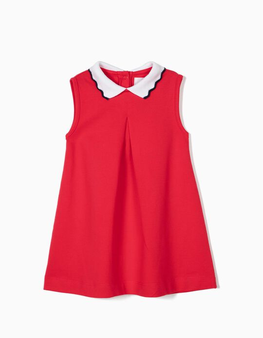 Vestido Piqué para bebé niña, Rojo