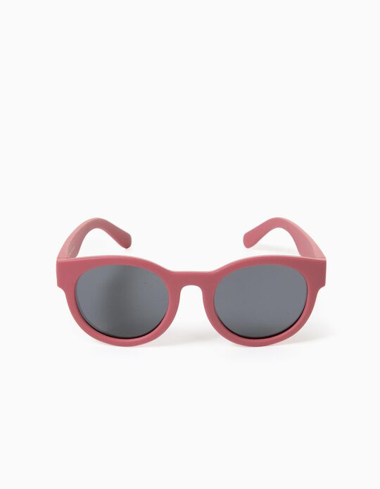 Flexible Sunglasses for Girls, Dark Pink