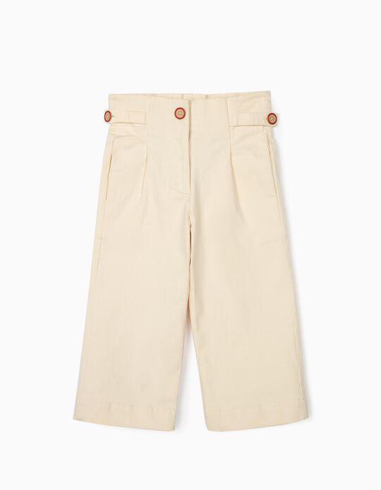 Pantalón Culotte para Niña, Beige
