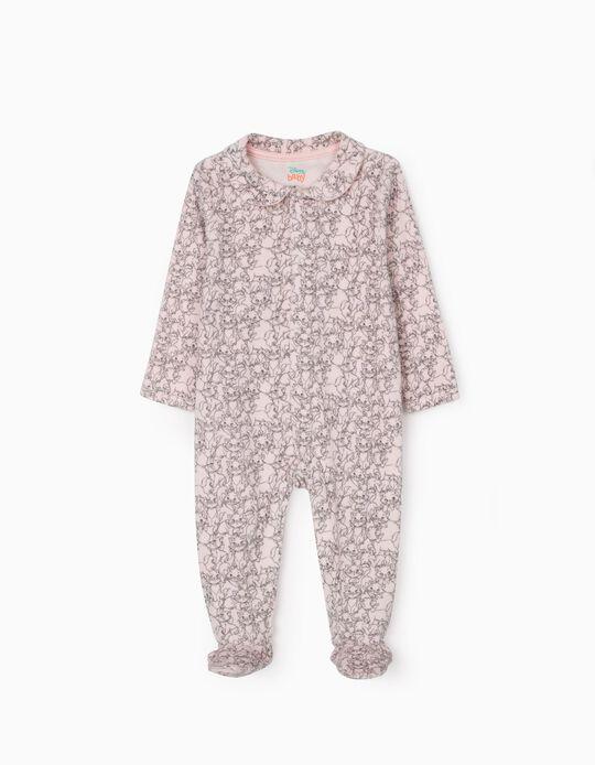 Babygrow de Veludo para Bebé Menina 'Aristocats', Rosa
