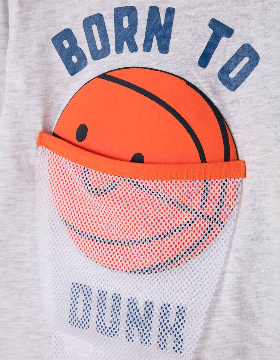 Camiseta de Manga Larga Estampada Born To Dunk
