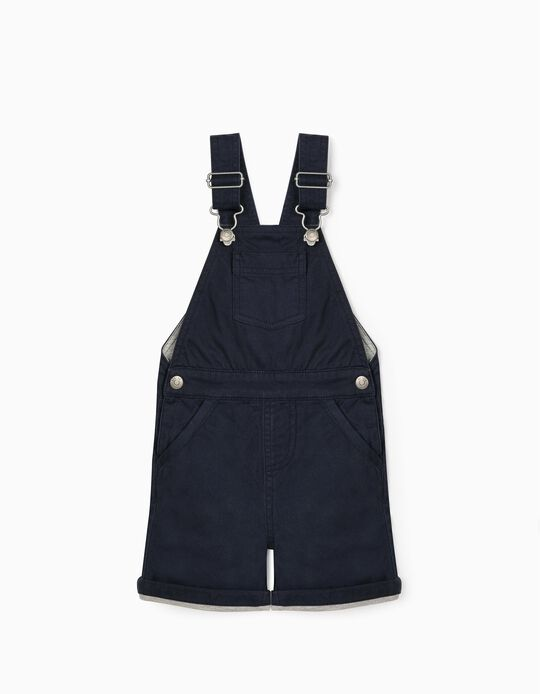 Short Dungarees for Baby Boys, Dark Blue