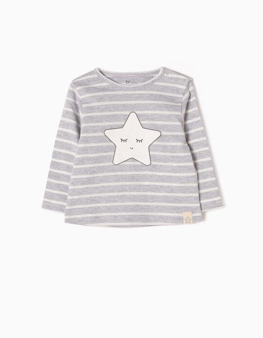 Camiseta de Manga Larga a Rayas & Estrella