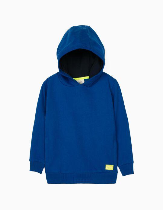 Sweatshirt com Capuz para Menino 'ZY 96', Azul