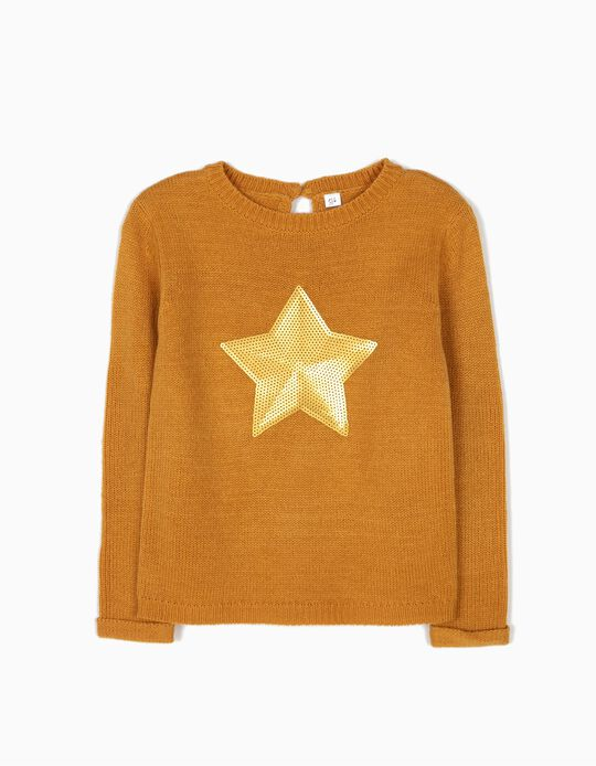 Camisola de Malha Star Amarelo-Torrado
