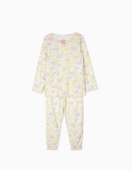 Pijama para Niña 'Sloths', Blanco