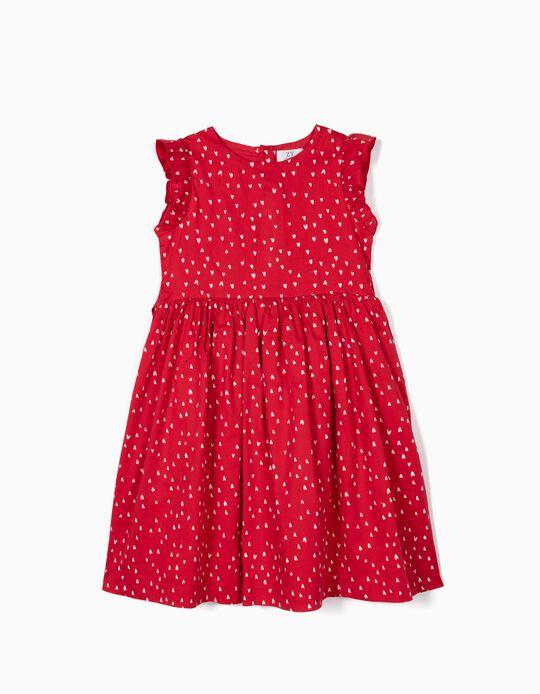 Vestido para Niña 'Hearts', Rojo