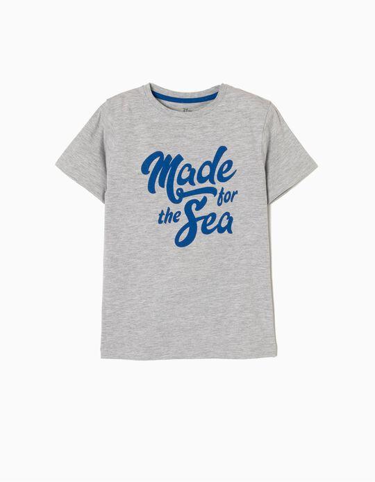 T-shirt Manga Curta Made For The Sea