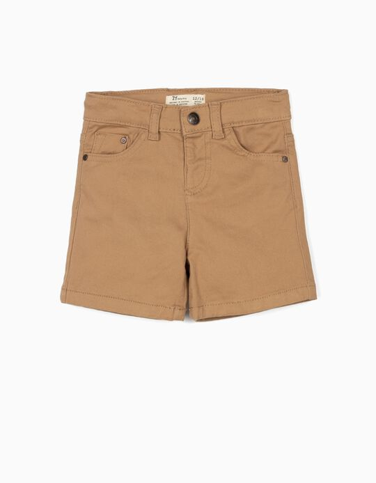 Twill Shorts for Baby Boys, Camel