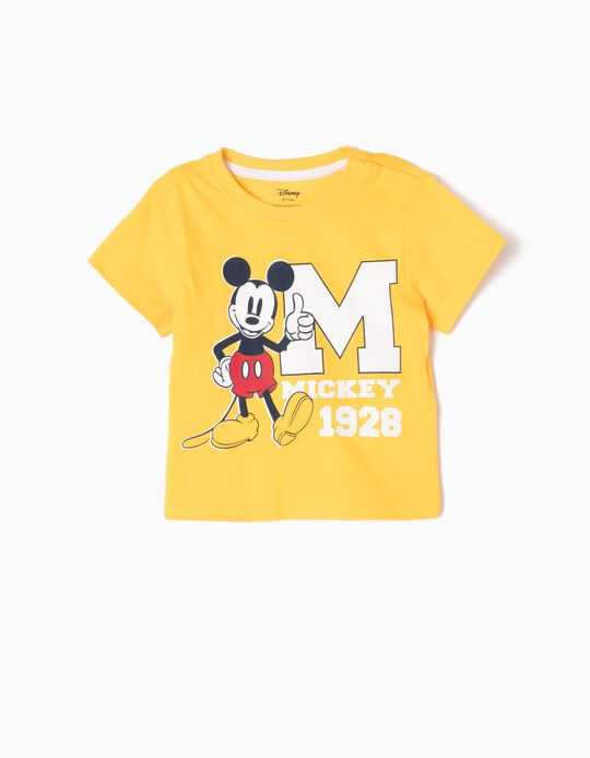 Camiseta Mickey Mouse 1928 Amarilla