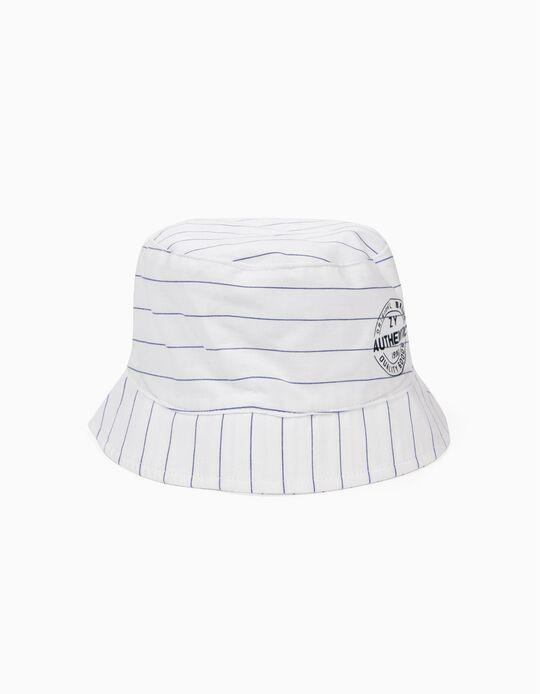 Sombrero para Niño a Rayas, Blanco