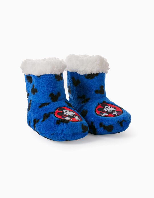 Slipper Boots for Boys, 'Mickey Mouse', Blue