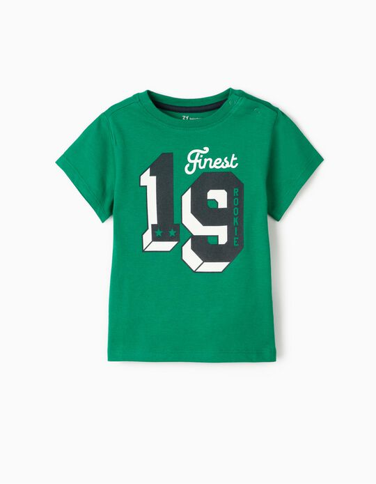 T-Shirt para Bebé Menino 'Rookie', Verde