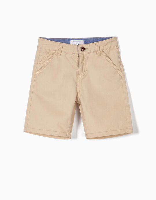 Chino Shorts for Boys, 'B&S', Beige