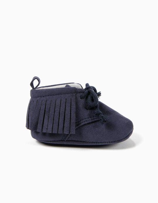 Botas com Franjas Azul Escuro